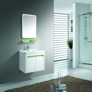 Washroom Wall Mounted Cabinet Sets with Two Solid Wood Doors