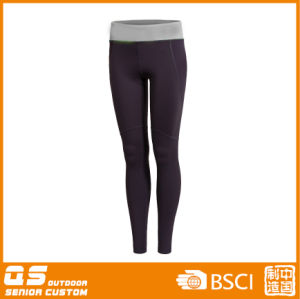Women′s Sports Running Quick Dry Polyester/Spandex Pants pictures & photos