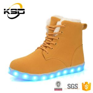 2016 New Product USB Charging LED Lights Shoes Women and Men LED Snow Boots
