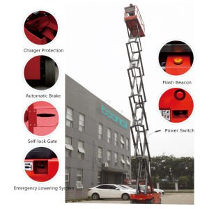 Self-Propelled Scissor Lift Hydraulic Motor Max Working Height 9.9 (m) pictures & photos