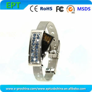 Jewelry Wristband Crystal USB Flash Drive for Promotion (ES118) pictures & photos