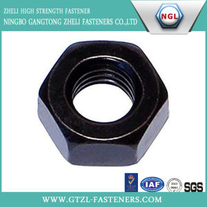 DIN934 Carbon Steel Hexagon Head Nut with Black pictures & photos