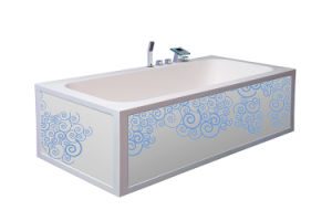 High Quality Wholesale Artificial Solid Surface White Freestanding Bathtub pictures & photos