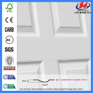 HDF Mould Laminated Wood White Primer Door (JHK-SK10) pictures & photos