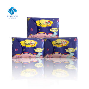 320mm Soft Maxi Feminine Hygiene for Biodegradable Night Use Ultra Thin Anion Sanitary Pad pictures & photos