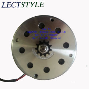 24V 350W Chain Driven Permanent Magnet DC Electric Motor with Bracket on Electric Trike Scooter pictures & photos