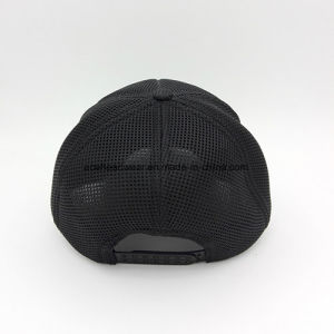 ODM Breathable Microfiber Black Mesh Fabric Curved Brim Sport Cap pictures & photos