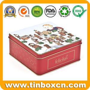 Square Cat Treat Metal Tin for Pet Food Strorage Box pictures & photos