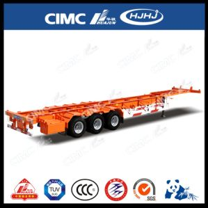 45FT 2axle Skeleton Container Semi Trailer with Platform pictures & photos