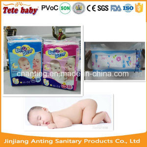 Dark Purple Colour PE Backsheet Disposable Baby Diaper pictures & photos