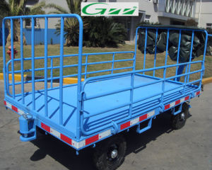 Four Rail Aircraft Baggage Carts pictures & photos