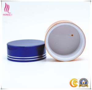Cosmetic Aluminum Screw Cap with Silver Line pictures & photos