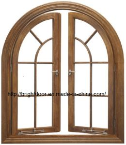 Classic Anodized Round Top Security Aluminum Swing Window pictures & photos
