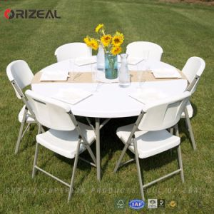 Orizeal 6 Foot Deluxe Round Folding Table Oz-T2031 pictures & photos