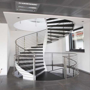 Interior Wooden Curved Staircase pictures & photos