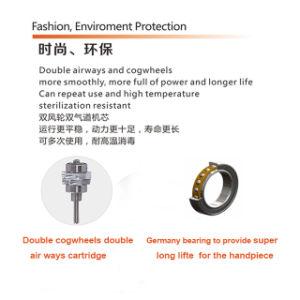 Mini Push Button Double Cogwheels Dental High Speed Handpiece pictures & photos