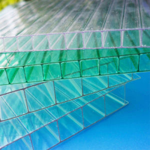 Transparent Twin Wall Hollow Polycarbonate Sheet for Skylight Roofing pictures & photos