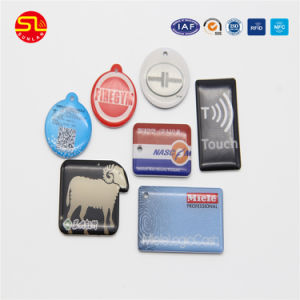 Full Color Printing RFID Chip Tag with Hole for Access Control pictures & photos