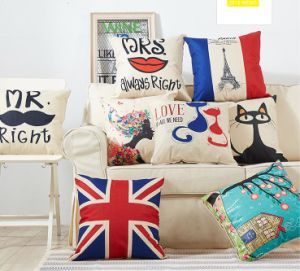 100% Cotton Decorative Throw Pillow Case Cushion pictures & photos
