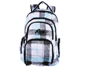 Fashion Grid Outdoor Travel Sports School Laptop Backpack Bag pictures & photos