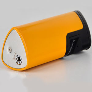 Lubinski Induction Shape Yellow Windproof Cigar Lighters 3 Flame (ES-LI-002) pictures & photos