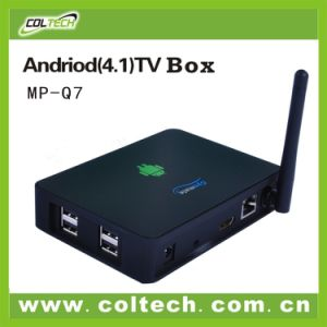 Dual Core Internet Full HD Smart Android TV Box with WiFi Antenna RJ45
