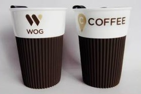 Wholesale Ceramic Coffee Mug with Plastic Lid and Silicon Sleeve pictures & photos