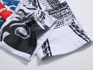 Custom White Slim England Printing Paris Eiffel Tower Leisure Elastic Big Size Men′s Jeans Pants pictures & photos