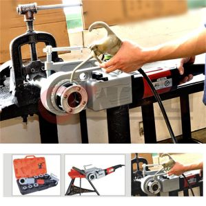 Electric Hand-Held Power Pipe Threading Machine pictures & photos