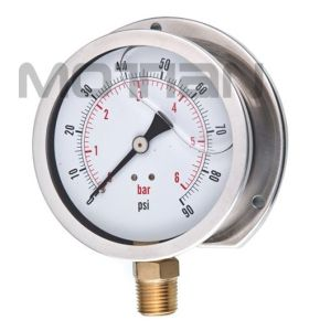 4 Inchglycerin Silicon Liquid Oil Filled Bourdon Tube Pressure Gauge pictures & photos
