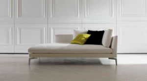 Small Chaise Sofa Fabric Sofa for Living Room in White pictures & photos