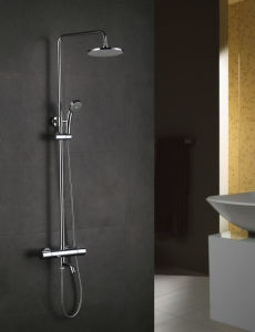 Solid Heavy Brass Body Single Lever Thermostatic Shower Mixer pictures & photos