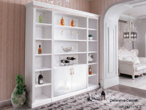 Modern White Artistic Decoration Wine Cabinet (ZS11172) pictures & photos