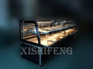 Straight Glass Refrigerated Cake Display (CE approved) pictures & photos