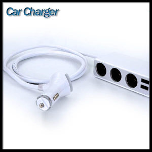 2 USB Port 4.8A 3 Cigarette Lighter Hub Socket Dual Outlets 12 Volt Adapter Car Charger pictures & photos