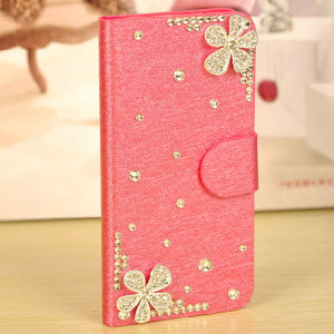 Flower Diamond Leather Case for iPhone 6 pictures & photos