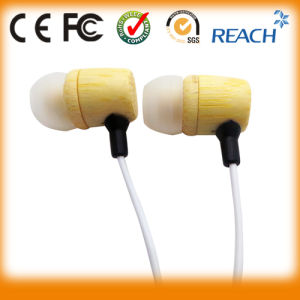 Wood Earphone Bamboo Two Way Radio Headsets pictures & photos