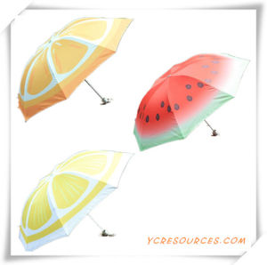 Promotion Gift of Fashion 3 Folding Umbrella with Painted Fruit pictures & photos