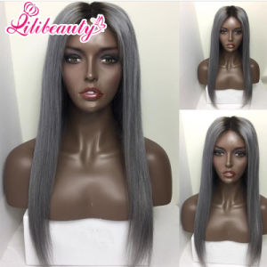 Lace Front Wigs (100% human hair) in 1b/Grey Color pictures & photos