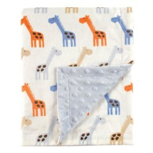 Baby Printed Mink Blanket with Dotted Backing Blanket pictures & photos