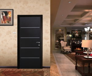 High End Utility Aluminiun Strips Inserted Steel Interior Door pictures & photos