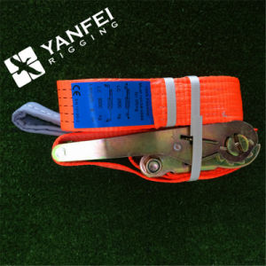 Double J Hook Ratchet Strap with Track Tie Down pictures & photos