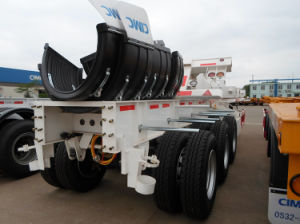 40FT Container Transportation 3 Axles Skeleton Semi Trailer pictures & photos