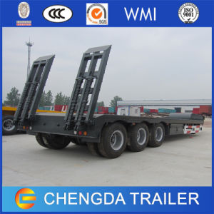 80ton Loading 4 Axle Low Bed Truck Trailer Made in China pictures & photos
