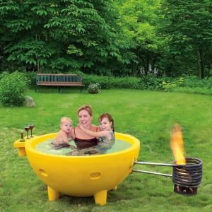 Outdoor Fire Barbecue Heat Water Hot Tub pictures & photos