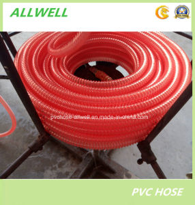 "PVC Plastic Flexible Spiral Reinforced Water Suction Pipe Hose 1-1/4"" pictures & photos"