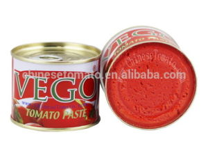 Vego Brand Organic Healthy 70g Canned Tomato Paste with High Quality pictures & photos