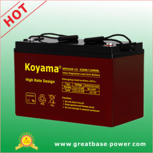 110ah 12V High Rate Performance Battery pictures & photos