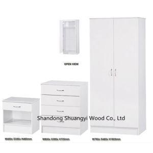 White Melamine Particle Board Home Furniture Bedroom Sets pictures & photos