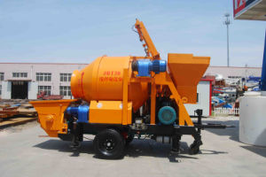 Electrical Diesel Truck Mounted 30m3/H Small Portable Concrete Mixer Pump Small Mixer and Pumping Product pictures & photos